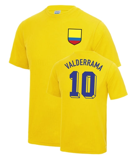 Carlos Valderrama Number 10 Colombia Legend T-Shirt