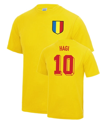 Gheorge Hagi Number 10 Romania Legend T-Shirt