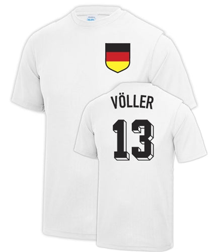 Rudi Völler Germany Number 13 Football Legend T Shirt
