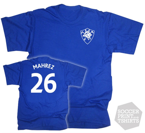 Riyad Mahrez Leicester City Retro Badge T-Shirt