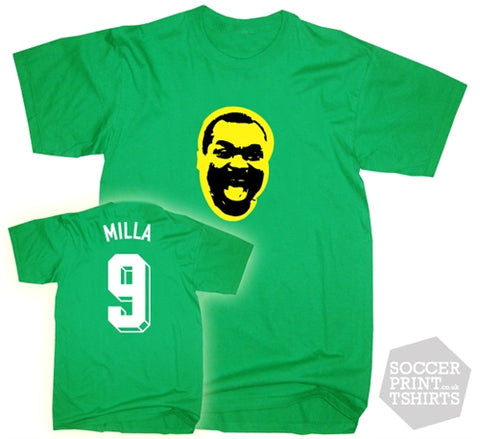 Roger Milla Cameroon Number 9 Face T-Shirt