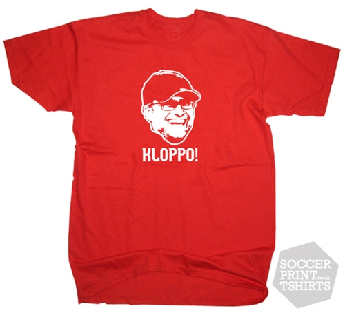 Funny Jurgen Klopp Kloppo! Face Liverpool Football T-Shirt