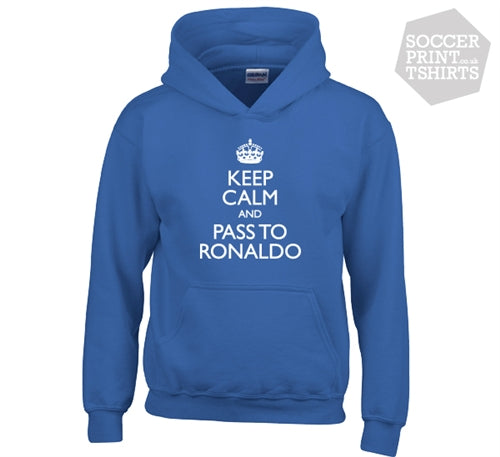 Funny Keep Calm And Pass To Ronaldo Real Madrid Hoodie