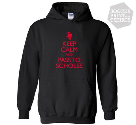 Man Utd Keep Calm & Pass To Paul Scholes Football Hoody