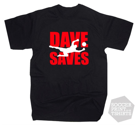Man Utd Dave Saves David De Gea Football T-shirt