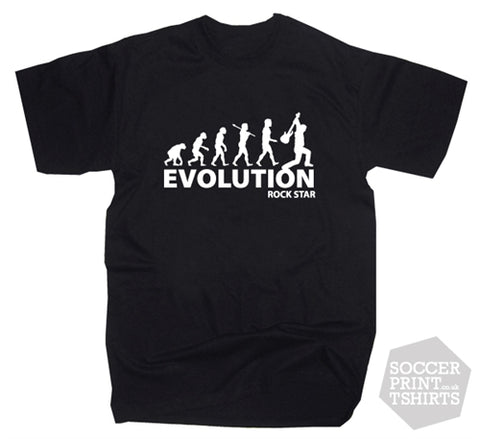 Evolution of a Rock Star Guitar Funny Music T-Shirt