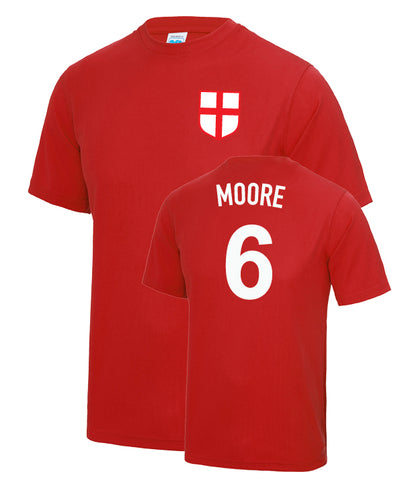 Bobby Moore Number 6 England Legend 1966 T-Shirt