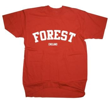 Forest England US College Style Text T-Shirt