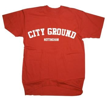 Nottingham Forest City Ground US College Text T-Shirt