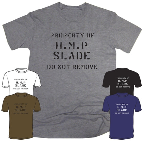 Porridge TV Show Property of HMP Slade Joke T-Shirt
