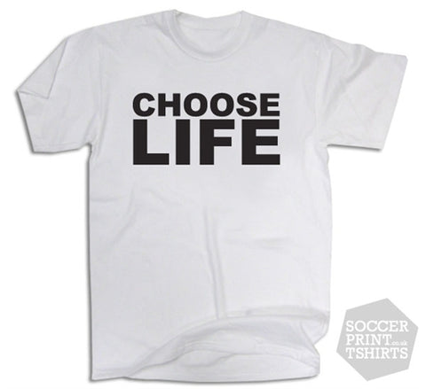 Choose Life 80's Pop Wham Fancy Dress T-Shirt