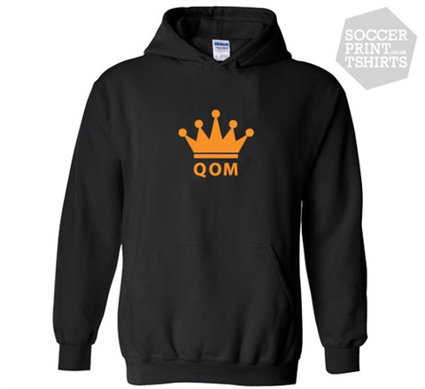 Queen Of The Mountain QOM Crown Kudos Cycling Hoodie