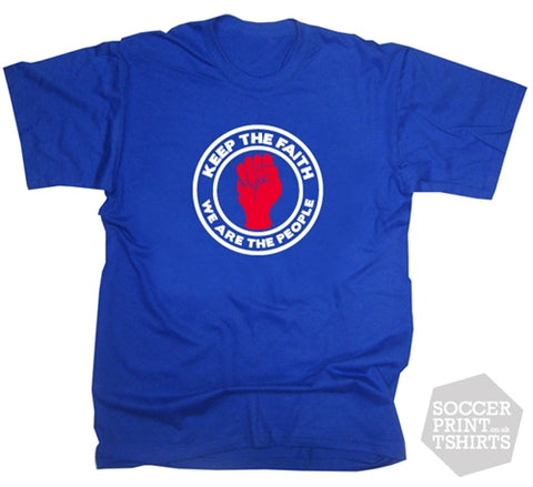 Rangers Keep The Faith We Are The People Northern Soul Logo Football T-Shirt