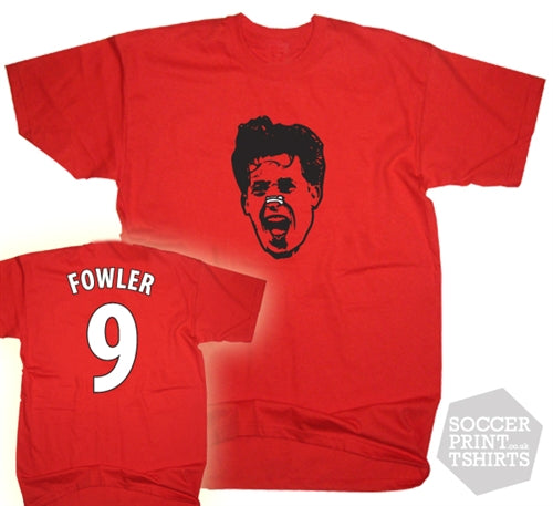 Robbie Fowler Liverpool Legend Number 9 Face T-Shirt