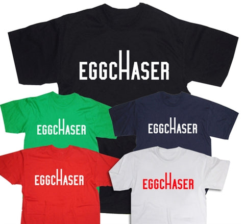 Funny Egg Chaser Rugby Slogan T-Shirt