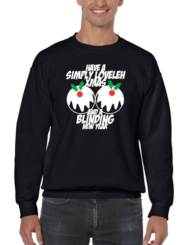Simply Loveleh Blinding New Year Funny Christmas Jumper