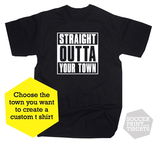 Straight Outta Compton Custom Town T-Shirt