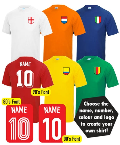 Custom Name & Number World Cup Football T-Shirt
