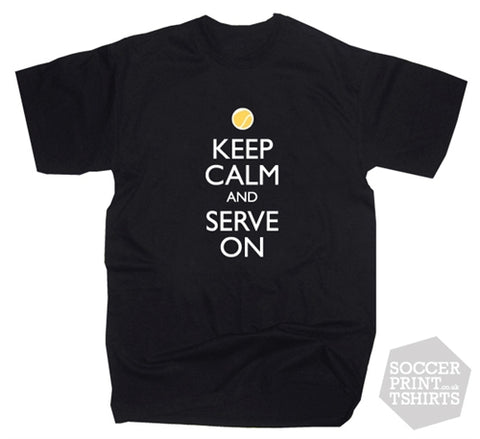 Keep Calm And Serve On T Shirt