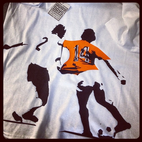 Terrace Life Johan Cruyff Holland 1974 Football T Shirt