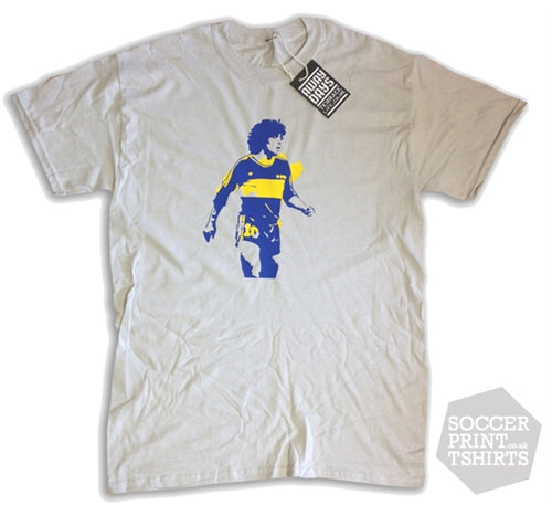 Terrace Life Legends Maradona Boca Juniors T Shirt