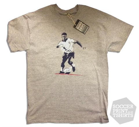 Terrace Life Legends Paul Gascoigne 'Gazza' England T Shirt