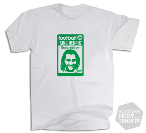 Henrik Larsson Celtic Originals 80's Casuals T-Shirt