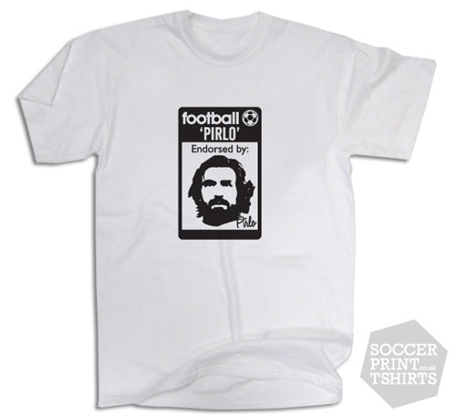 Andrea Pirlo Juventus 80's Casuals Inspired T-Shirt