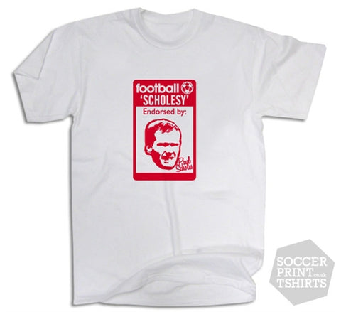 Paul Scholes Man Utd Originals 80's Casuals T-Shirt