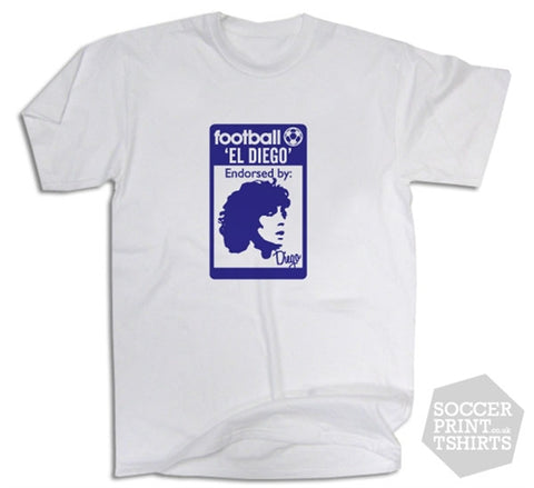 Diego Maradona Originals Football 80's Casuals T-Shirt