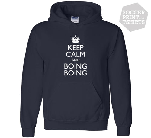 Keep Calm And Boing Boing Funny West Brom Hoody