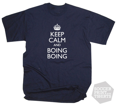 Funny West Brom Keep Calm & Boing Boing Chant T-Shirt