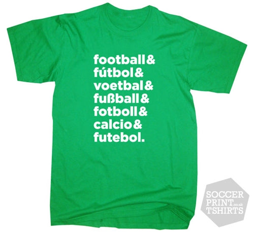 The Language of Football Text T-Shirt