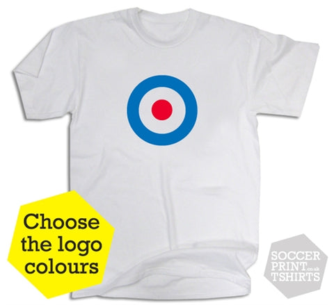 Mod Symbol Custom Football Colours T-Shirt
