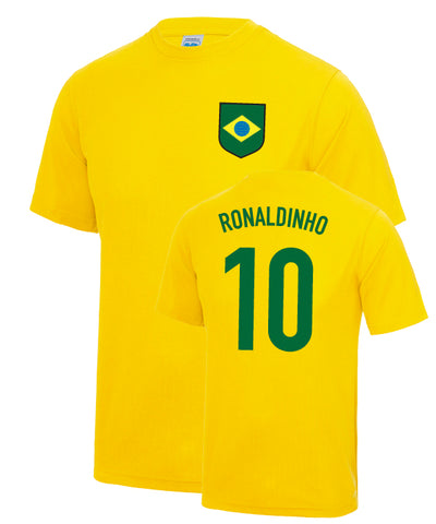 Ronaldinho Brazil World Cup Number 10 Legend T-Shirt