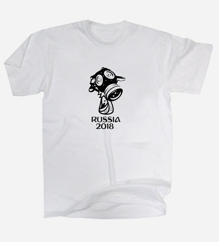 Russia 2018 Gas Mask Trophy World Cup T-Shirt