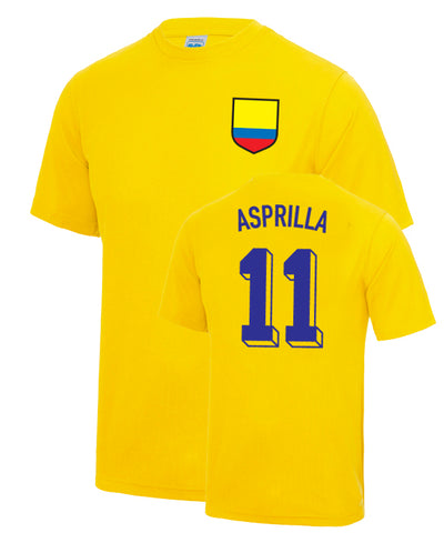 Tino Asprilla Number 11 Colombia Legend T-Shirt