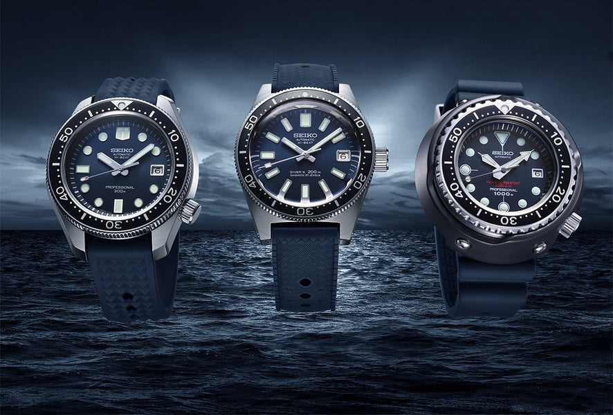 Three Legendary Seiko Diver's Watches are re-created to celebrate their 55th Anniversary