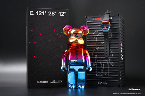 The Casio G-Shock China crossover BE@RBRICK Shanghai Night Series GM-110SN-2A & GM-5600SN-1 Limited www.watchoutz.com