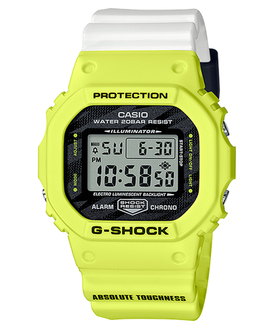 CASIO G-SHOCK LIGHTNING YELLOW SERIES DW-5600TGA-9JF www.watchoutz.com