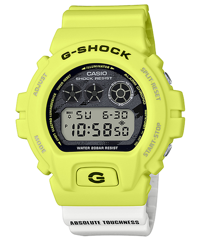 CASIO G-SHOCK LIGHTNING YELLOW SERIES DW-6900TGA-9JF www.watchoutz.com