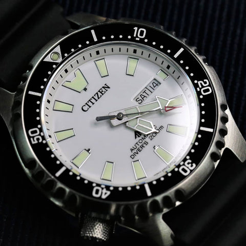 CITIZEN Promaster Automatic 200M Diver Fugu Asia Limited NY0118-11A www.watchoutz.com