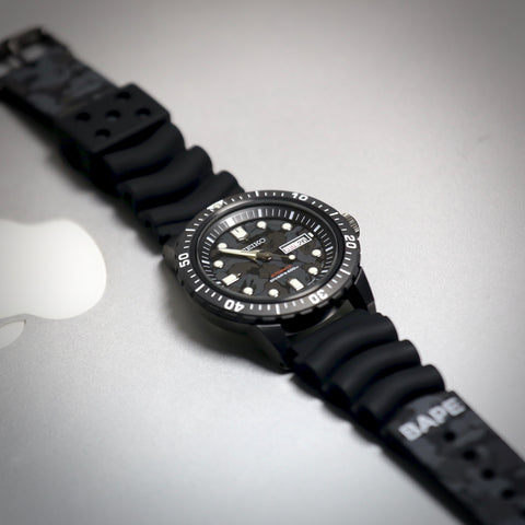 SEIKO x BAPE ABC CAMO MECHANICAL DIVERS WATCH 2020 SZEL004 www.watchoutz.com