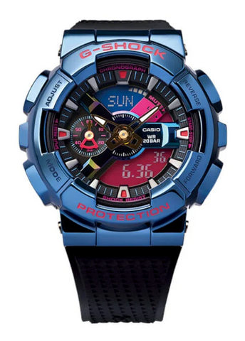 The Casio G-Shock China crossover BE@RBRICK Shanghai Night Series GM-110SN-2A Limited www.watchoutz.com