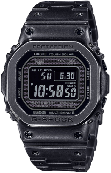 Casio G-shock GMW-B5000V-1DR Full Metal Vintage Aged Black IP www.watchoutz.com