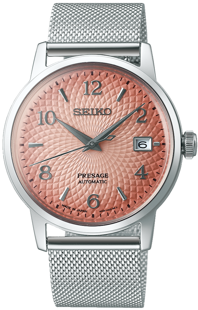 SEIKO PRESAGE AUTOMATIC BAR COCKTAIL TEQUILA SUNSET SARY169 (SRPE47J1) www.watchoutz.com