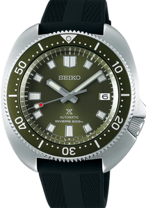 SEIKO PROSPEX TURTLE AUTOMATIC DIVER'S 200M GREEN CAPTAIN WILLARD SPB153J1 www.watchoutz.com