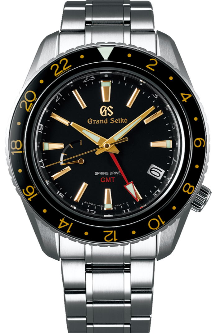 Grand Seiko Sport Collection Spring Drive GMT Black Gold SBGE215 www.watchoutz.com