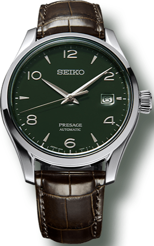 SEIKO PRESAGE GREEN ENAMEL AUTOMATIC LIMITED EDITION 2000pcs SPB111J1 www.watchoutz.com