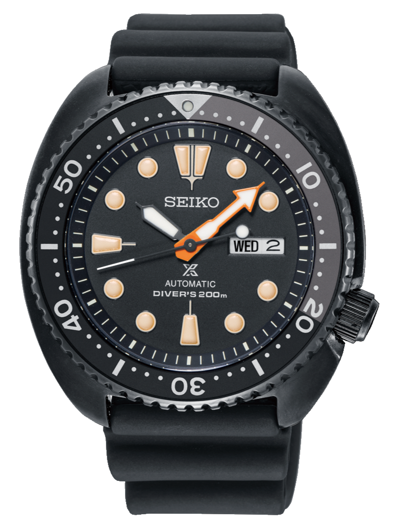 SEIKO PROSPEX AUTOMATIC DIVERS TURTLE THE BLACK SERIES SBDY005 SRPC49J1 www.watchoutz.com